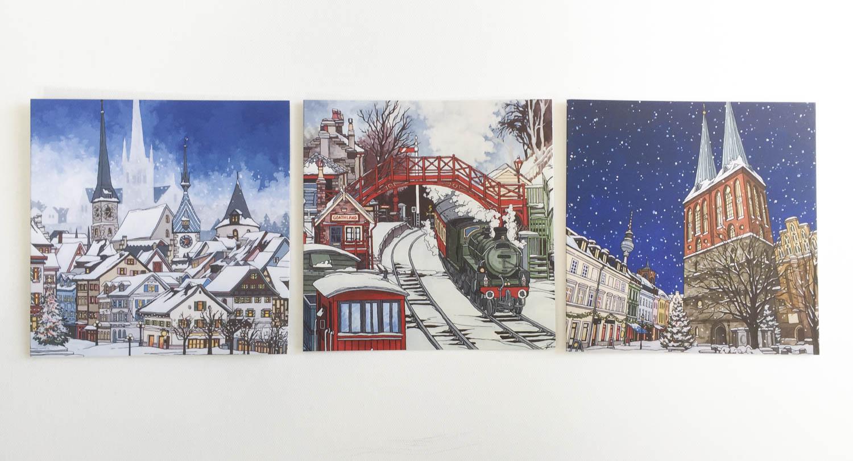 Christmas Card Bundle – Illustration by Jonathan Chapman-4