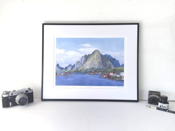 Lofoten Norway Limited Edition Print - Illustration by Jonathan Chapman