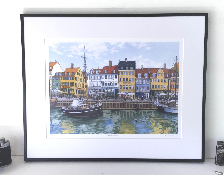 Nyhavn Copenhagen Limited Edition Print – Illustration by Jonathan Chapman-2