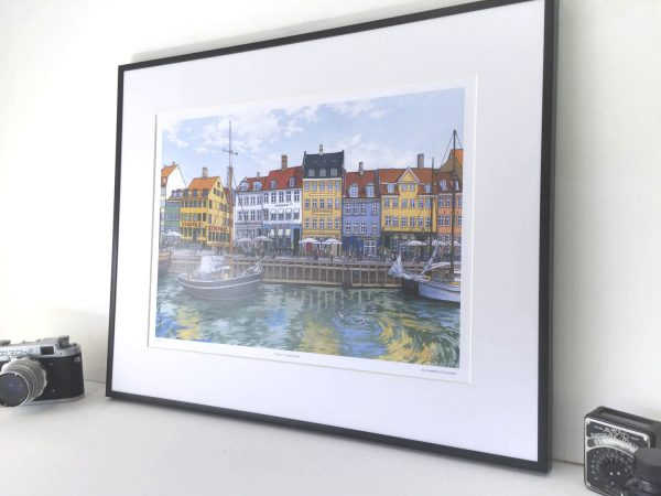 Nyhavn Copenhagen Limited Edition Print - Illustration by Jonathan Chapman