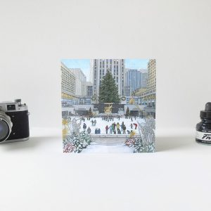 Rockefeller Christmas Tree Greeting Card