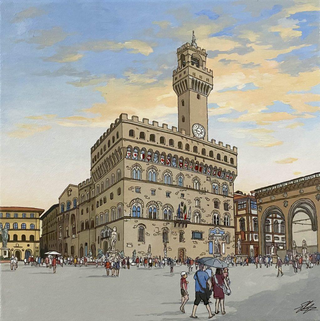 Florence Palazzo Vecchio - Illustration by Jonathan Chapman