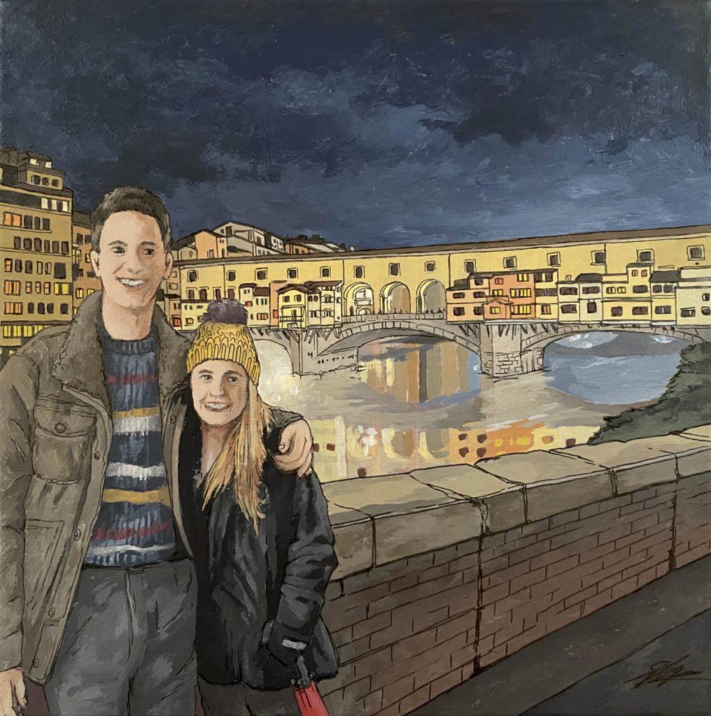 Florence Ponte Vecchio - Illustration by Jonathan Chapman