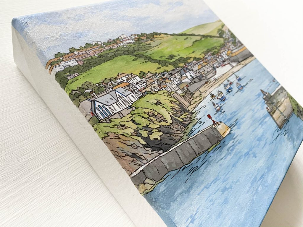 Port Isaac Study - Illustration by Jonathan
