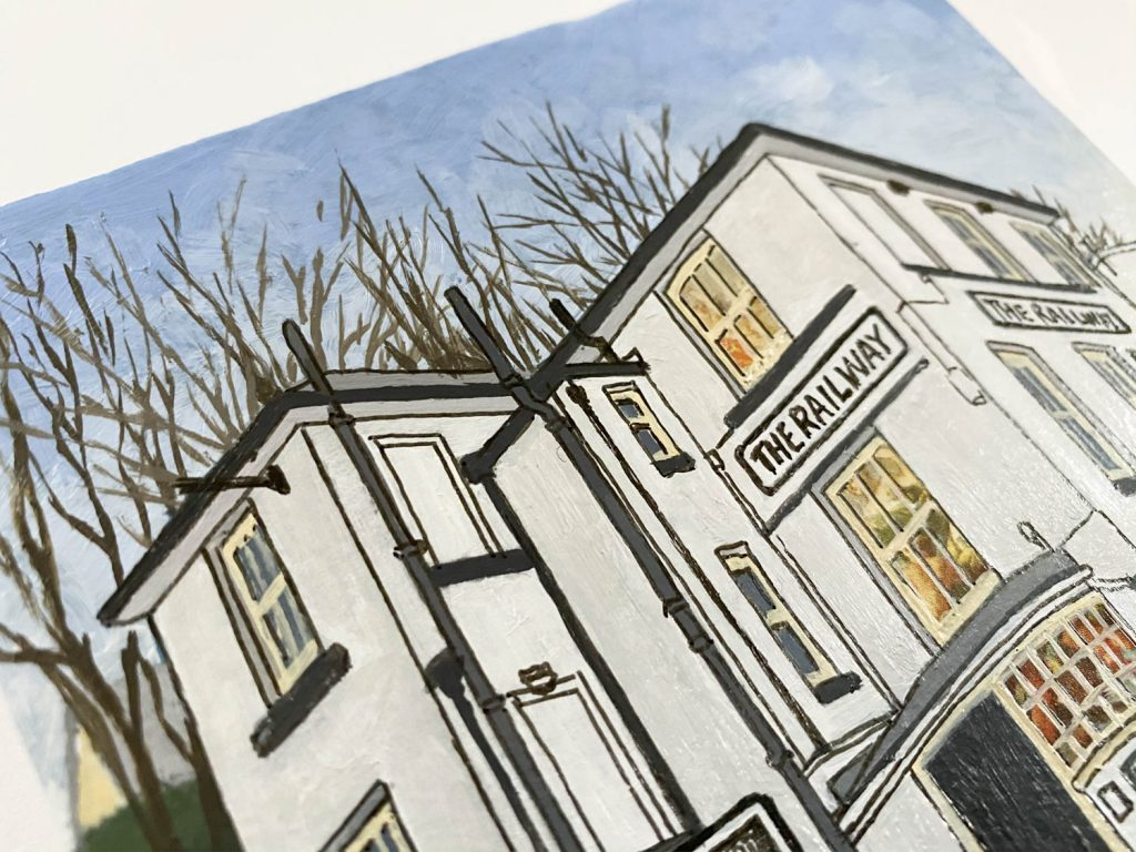 The Railway Inn Winchester - Illustration by Jonathan Chapman