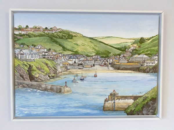 Big Port Isaac Painting - Illustration by Jonathan Chapman