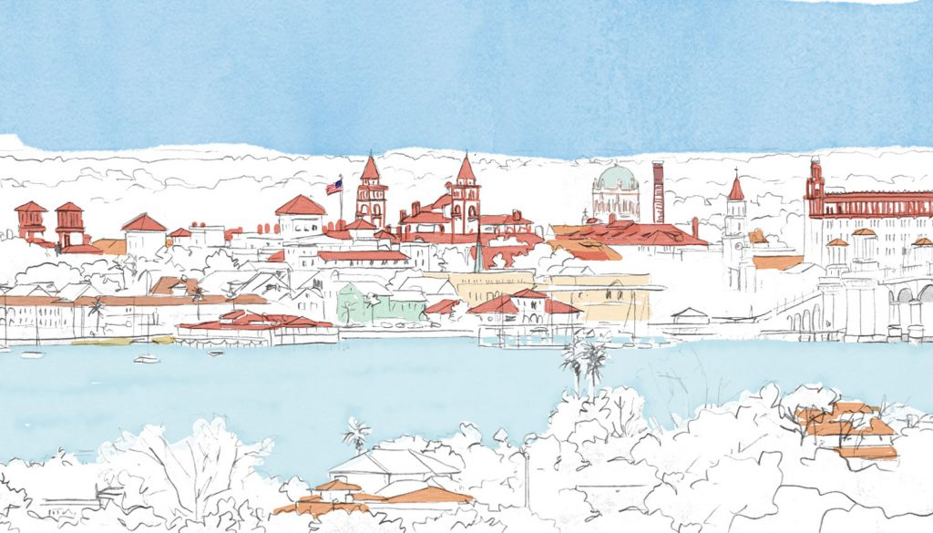 St Augustine Florida - Illustration by Jonathan Chapman