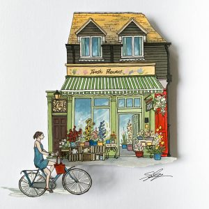The Flower Shop - Illustration by Jonathan Chapman