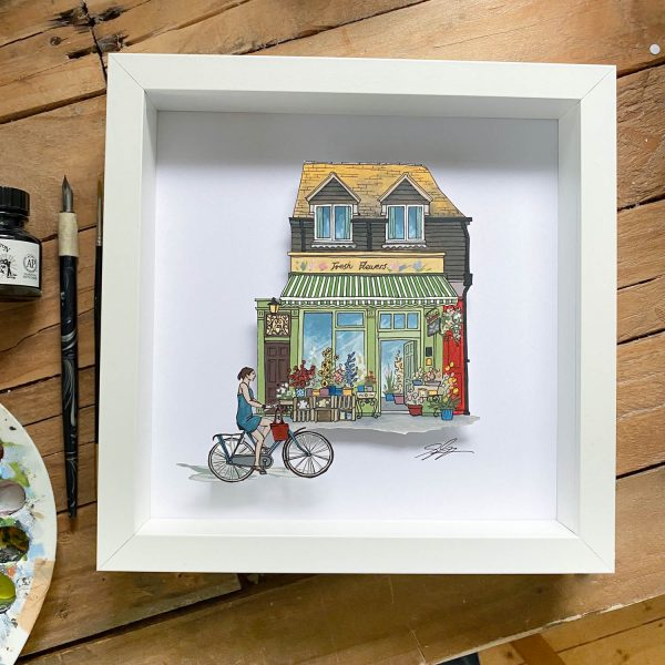 The Flower Shop - Illustration by Jonathan Chapman