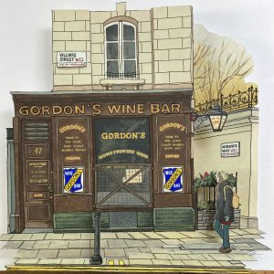 Gordons Wine Bar - Illustration by Jonathan Chapman