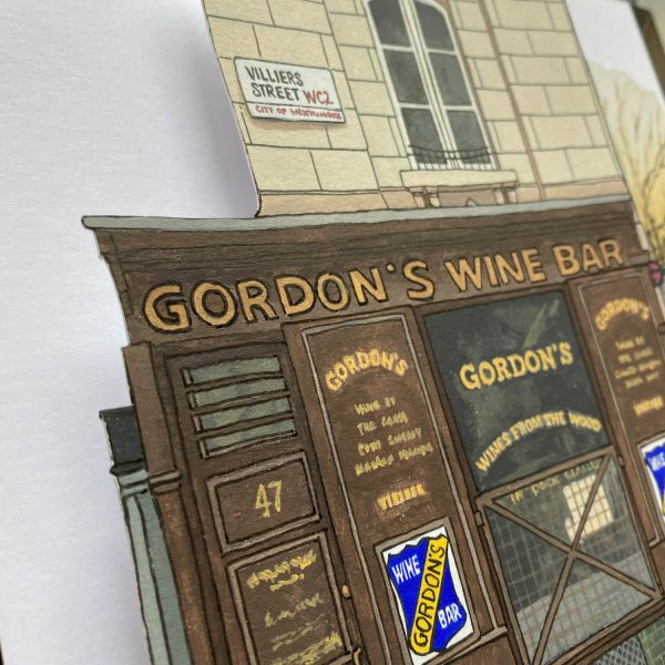 Gordons Wine Bar - Illustration by Jonathan