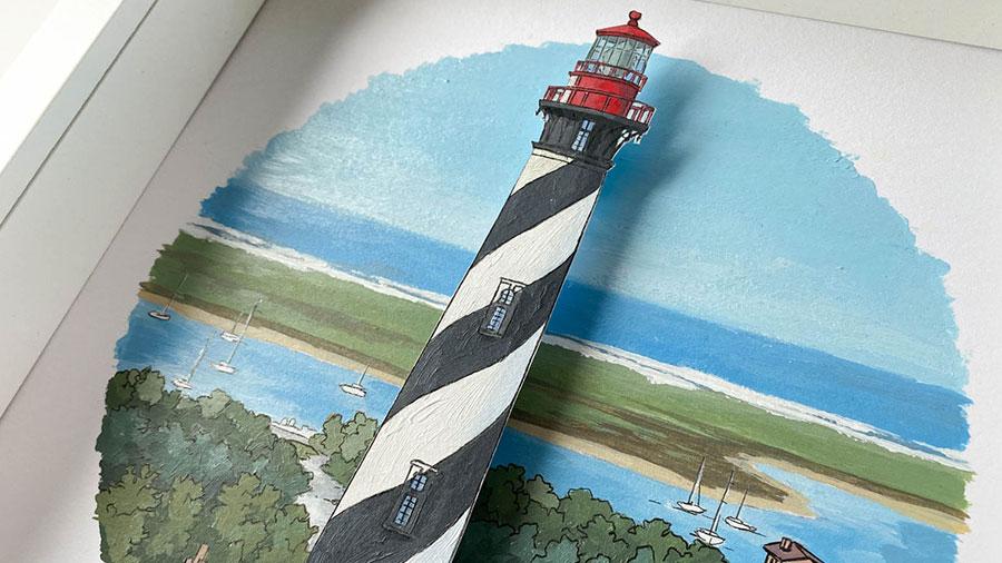 St Augustine Lighthouse - Illustration by Jonathan Chapman