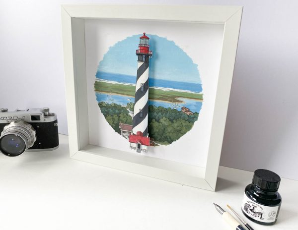 St Augustine Lighthouse - Illustration by Jonathan Chapman