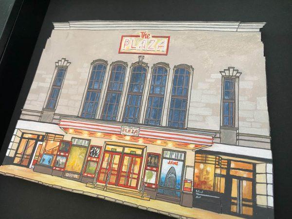 The Plaza Cinema Truro - Illustration by Jonathan