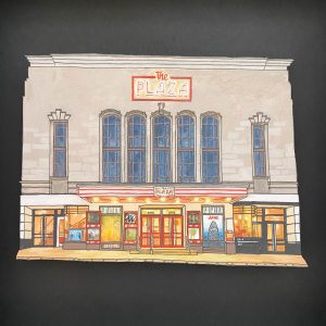 The Plaza Cinema Truro - Illustration by Jonathan