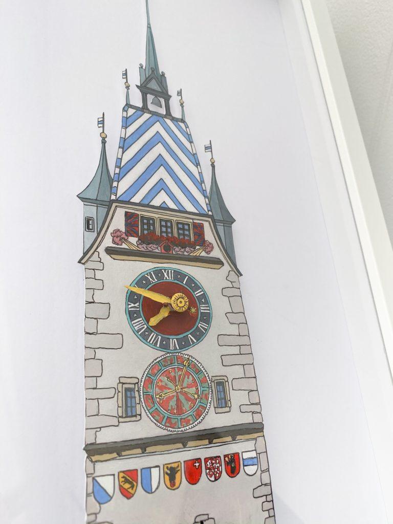 Zytturm clock - Illustration by Jonathan Chapman