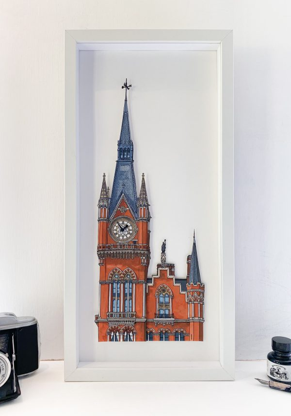 St Pancras Clock Tower - Illustration by Jonathan Chapman