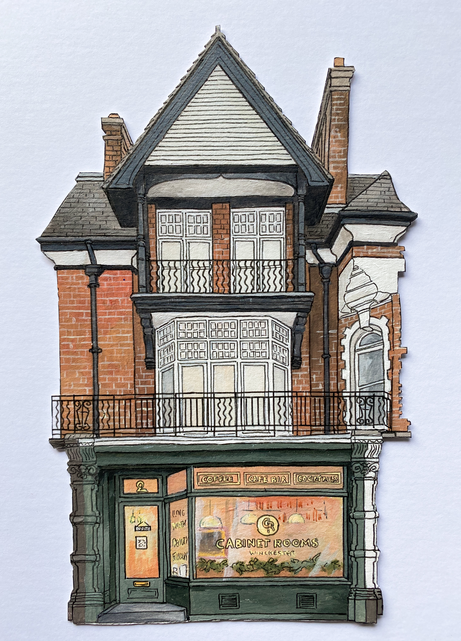 The Cabinet Rooms - Winchester Independents - Illustration by Jonathan Chapman