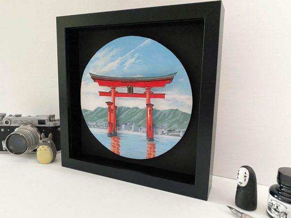 Torii Gate at Itsukushima - Illustration by Jonathan Chapman