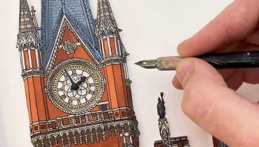 Painted Clocks - Illustration by Jonathan Chapman