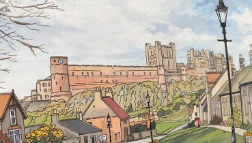 Bamburgh Commission Feature - Illustration by Jonathan Chapman