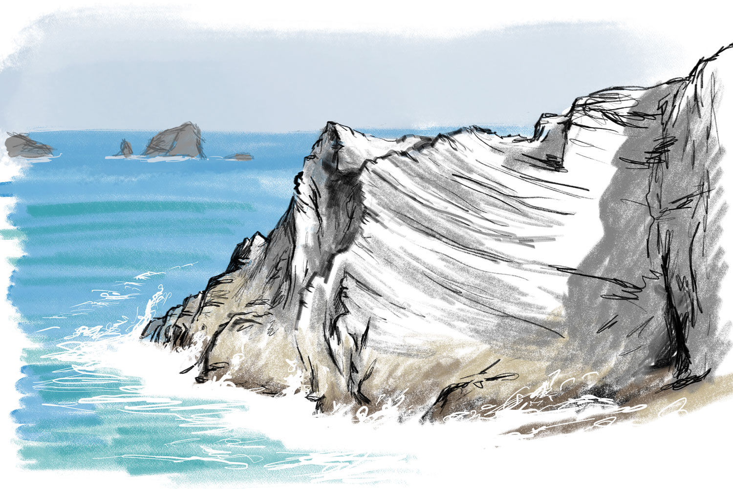 Fox Cove - digital drawing by artist Jonathan Chapman
