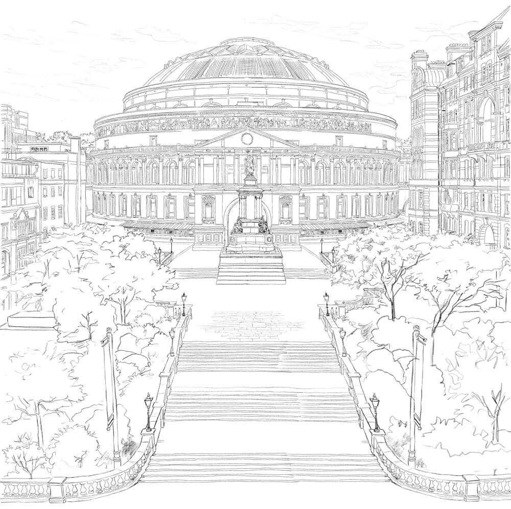 Royal Albert Hall - Illustration by Jonathan Chapman