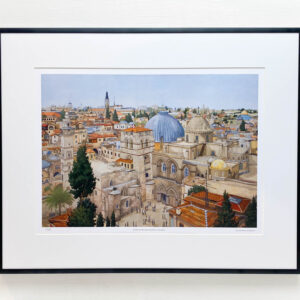 Church of the Holy Sepulchre Jerusalem Limited Edition Print - Illustration by Jonathan Chapman