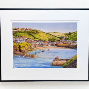 Port Isaac Cornwall Limited Edition Print - Illustration by Jonathan Chapman