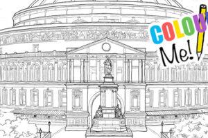 Royal Albert Hall Colouring Page