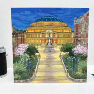 Royal Albert Hall Greeting Card - Illustration by Jonathan Chapman