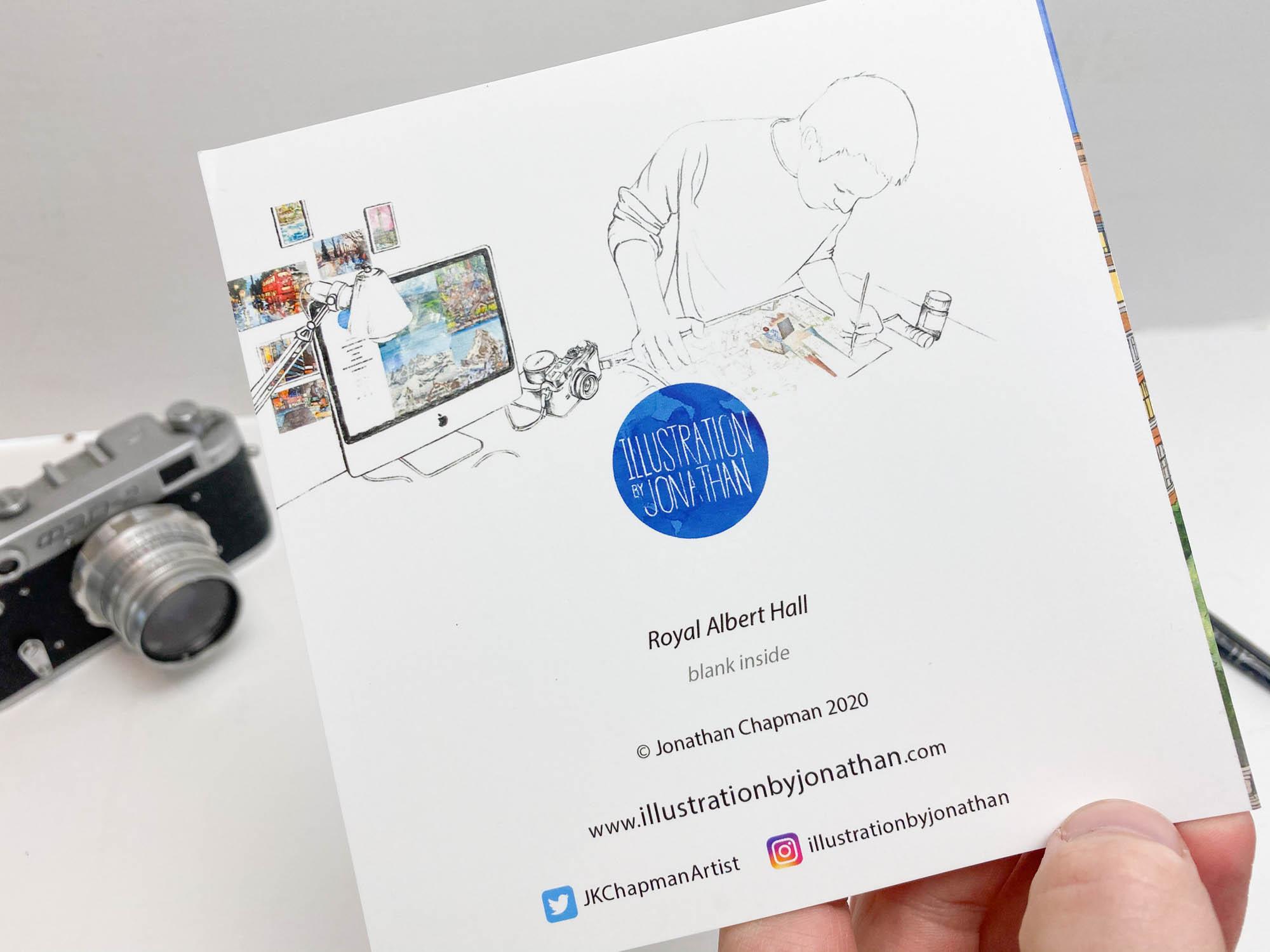 Royal Albert Hall Greeting Card - Illustration by Jonathan Chapman