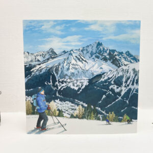 Ski Season Greeting Card - Illustration by Jonathan Chapman