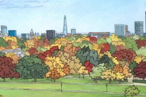 Primrose Hill in Autumn