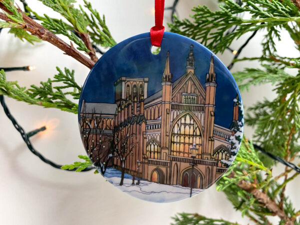 Winchester Christmas Tree Ornament - Illustration by Jonathan Chapman