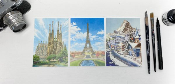 World Series Postcard Pack 2 - Illustration by Jonathan Chapman