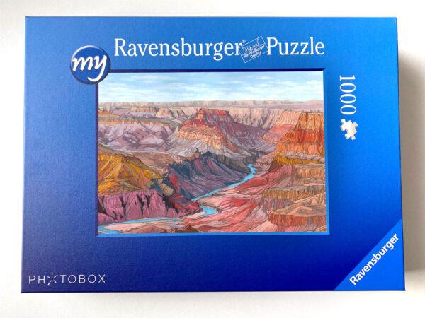 Grand Canyon Jigsaw Puzzle - Illustration by Jonathan Chapman