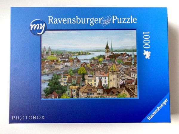 Zurich Jigsaw Puzzle - Illustration by Jonathan Chapman