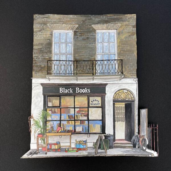 Black Books - Illustration by Jonathan Chapman