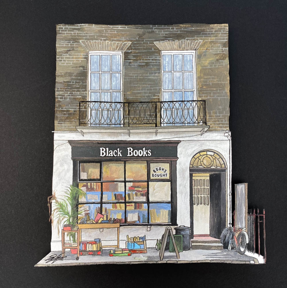 Black Books - Illustration by Jonathan Chapman