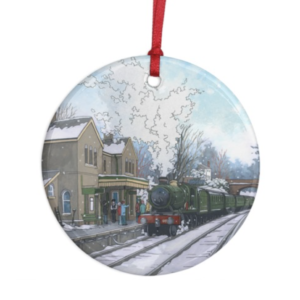 Alresford Steam Engine Decoration - Illustration by Jonathan Chapman
