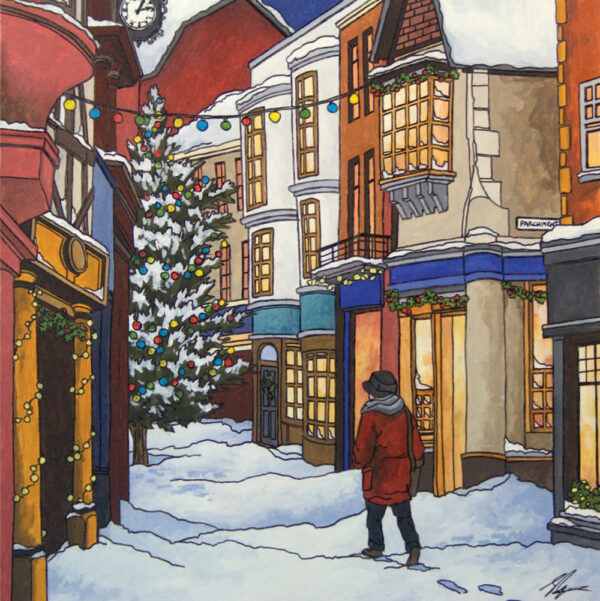 Nightshelter Christmas Cards - Illustration by Jonathan Chapman