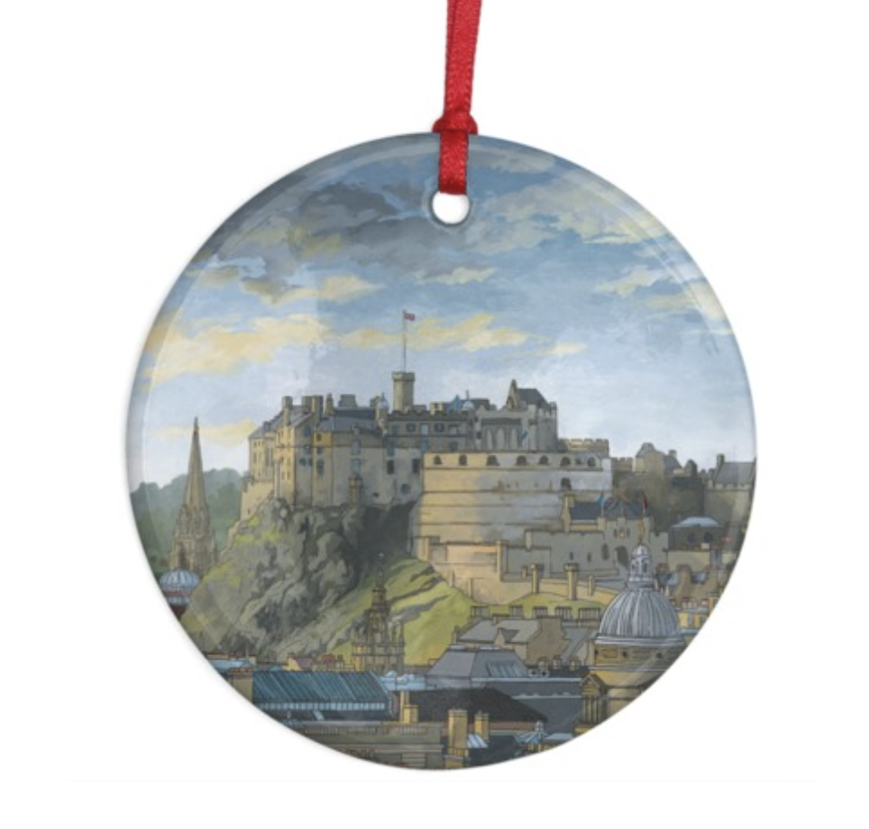 Edinburgh Castle Decoration - Illustration by Jonathan Chapman