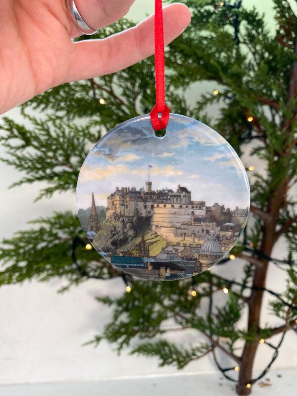 Edinburgh Castle Decoration - Illustration by Jonathan Chapman