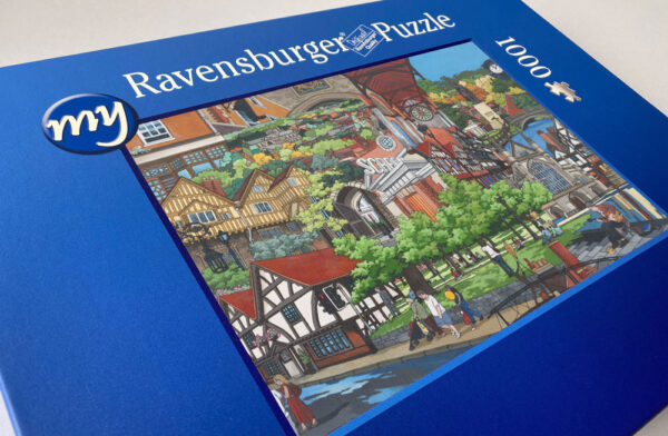 Winchester Collage Jigsaw Puzzle - Illustration by Jonathan Chapman