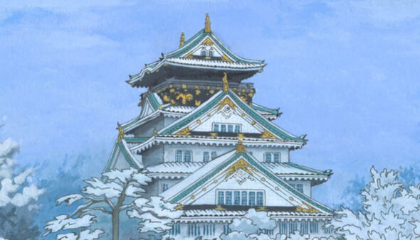 Osaka Castle in the Snow