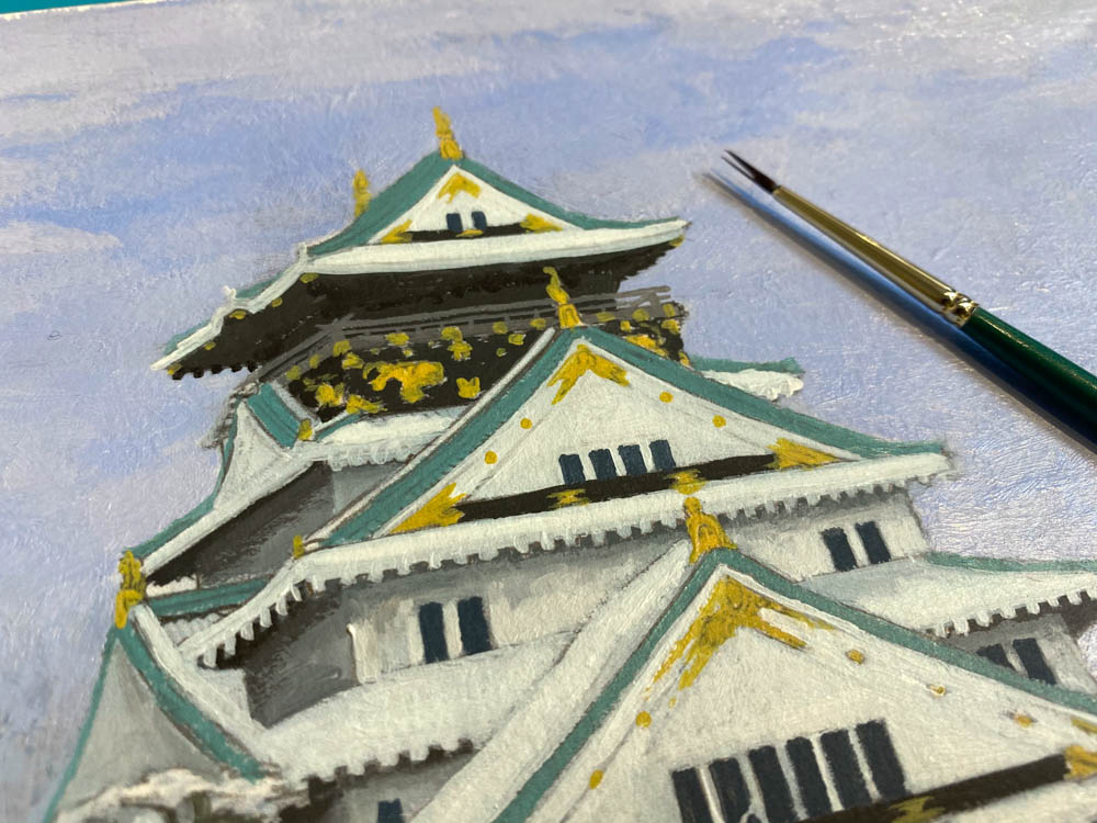 Osaka Castle in Winter