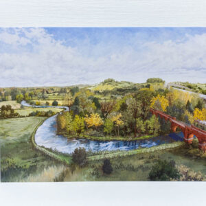 St Catherines Hill From Hockley Viaduct Greeting Card - Illustration by Jonathan Chapman