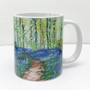 Bluebell Woods Coffee Mug - Illustration by Jonathan