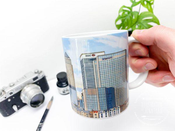 Canary Wharf Coffee Mug Design